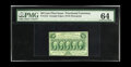Fractional Currency:First Issue, Fr. 1312 50c First Issue PMG Choice Uncirculated 64. A veryattractive example of this first issue type which becomes much l...