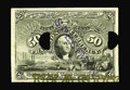 Fractional Currency:Second Issue, Milton 2E50F.2a 50¢ Second Issue Essay (Experimental) Very Choice New. This punched and stamped 50¢ Baltimore-Washington not...