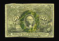 Fractional Currency:Second Issue, Fr. 1317 Milton 2E50.3e 50¢ Second Issue Inverted Back Surcharge Very Good. Unique when the Encyclopedia was printed, and to...