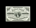 Fractional Currency:Third Issue, Fr. 1226 3c Third Issue Very Choice New. Just a little more bottom margin in order to acquire a Gem grade on this lovely not...
