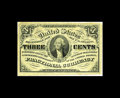 """Fractional Currency:Third Issue, Fr.1227 3¢ Third Issue About New. This is a """"no pearls"""" variety note. We first offered this note in September 2002 and furth..."""