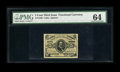 Fractional Currency:Third Issue, Fr. 1236 5c Third Issue PMG Choice Uncirculated 64. This is a very well margined red back Clark note which has good eye appe...