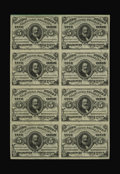 Fractional Currency:Third Issue, Fr. 1238 5¢ Third Issue Choice Block of Eight About New. Each ofthe eight notes, looked at individually, is a perfect Gem...