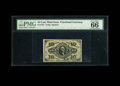 Fractional Currency:Third Issue, Fr. 1251 10c Third Issue PMG Gem Uncirculated 66 EPQ. A lovely example of this red back Washington note which has broad marg...