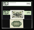 Fractional Currency:Third Issue, Fr. 1251SP/1255SP 10c Third Issue Medium Margin Face and Back Specimens PMG Superb Gem Unc 67PPQ; 66PPQ. The paper is as whi... (Total: 2 notes)