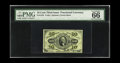 Fractional Currency:Third Issue, Fr. 1255 10c Third Issue PMG Gem Uncirculated 66 EPQ. Broad, even margins, perfect color and good, original embossing all co...