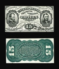 Fractional Currency:Third Issue, Fr. 1274SP 15c Third Issue Narrow Margin Pair Choice New. Here is a lovely and evenly matched pair that has plenty of color.... (Total: 2 notes)