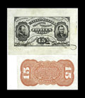Fractional Currency:Third Issue, Fr. 1274SP 15c Third Issue Wide Margin Pair Extremely Fine-About New. Do not be deceived by the technical grade on this scar... (Total: 2 notes)