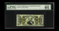 Fractional Currency:Third Issue, Fr. 1331 50c Third Issue Spinner PMG Choice Uncirculated 64 EPQ. While many examples show some weakness of the design at one...