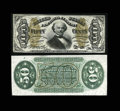 Fractional Currency:Third Issue, Fr. 1331SP 50c Third Issue Narrow Margin Pair Choice New. This is a very pleasing narrow margin pair with the face having so... (Total: 2 notes)