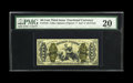 Fr. 1344 50c Third Issue Justice PMG Very Fine 20. This is the rarest of the red reverse without surcharge Justices to o...