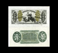 """Fractional Currency:Third Issue, Fr. 1358SP 50c Third Issue Wide Margin Pair. From the O'Mara sale where this pair was described as follows: """"The Green Back... (Total: 2 notes)"""