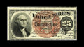 Fr. 1301 25c Fourth Issue Courtesy Autograph New. This lovely note bears the double courtesy autograph of John Burke and...
