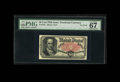 Fractional Currency:Fifth Issue, Fr. 1381 50c Fifth Issue PMG Superb Gem Unc 67 EPQ. An absolute beauty with broad, even margins and excellent centering of b...