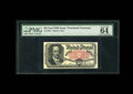 Fractional Currency:Fifth Issue, Fr. 1381 50c Fifth Issue PMG Choice Uncirculated 64 EPQ. Aspectacular Crawford note which appears to be a screaming gemfro...