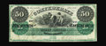 Confederate Notes:1861 Issues, T4 $50 1861. This is a bright Fine-Very Fine $50 with nice color, sound edges, and original paper surfaces. The even wea...