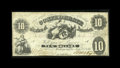 Confederate Notes:1861 Issues, T10 $10 1861. Bright and problem-free is this $10 that is not far behind the condition census. Fine+....
