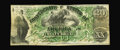 """Confederate Notes:1861 Issues, T17 $20 1861. This is the scarce variety labeled PF-5 with """"for"""" hand-written before Register and Treasr. This is the produc..."""