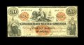 Confederate Notes:1861 Issues, T19 $20 1861. As a Fine, CC note this $20 is just outside of the Fricke Condition Census. This example is evenly circula...
