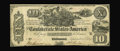Confederate Notes:1861 Issues, T29 PF-1 $10 1861. This is an eye-appealing Very Fine with natural paper surfaces....