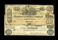 Confederate Notes:1861 Issues, T28 $10 1861 Fine+. T29 $10 1861 VG.. The T29 has a large moisture area and several pinholes.... (Total: 2 notes)