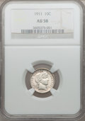 Barber Dimes: , 1911 10C AU58 NGC. NGC Census: (48/737). PCGS Population (86/865).Mintage: 18,870,544. Numismedia Wsl. Price for problem f...