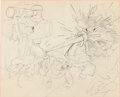 Animation Art:Production Drawing, Three Blind Mousketeers Layout Drawing Animation Art(Disney, 1936)....