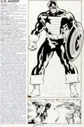 Original Comic Art:Splash Pages, Kieron Dwyer and Joe Rubinstein The Official Handbook of theMarvel Universe V3#8 Page 3 U. S. Agent P...