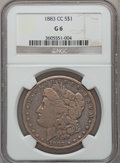 Morgan Dollars: , 1883-CC $1 Good 6 NGC. NGC Census: (15/17486). PCGS Population (17/35475). Mintage: 1,204,000. Numismedia Wsl. Price for pr...