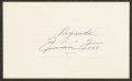Autographs:Index Cards, Jimmie Foxx Signed Cut Signature. ...