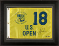 "Golf Collectibles:Autographs, Tiger Woods Signed ""Upper Deck Authenticated"" 2000 U.S. Open PebbleBeach Flag. ..."