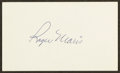 Autographs:Index Cards, Roger Maris Signed Index Card. ...