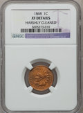 Indian Cents: , 1868 1C -- Harshly Cleaned -- NGC Details. XF. NGC Census:(17/313). PCGS Population (47/325). Mintage: 10,266,500. Numisme...