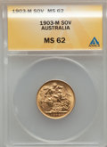 Australia, Australia: Edward VII gold Sovereign 1903M,...
