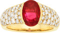 Estate Jewelry:Rings, Ruby, Diamond, Gold Ring, French. ...