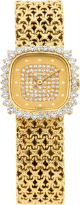 Estate Jewelry:Watches, Patek Philippe Lady's Diamond, Gold Wristwatch. ...