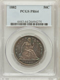 Proof Seated Half Dollars, 1882 50C PR64 PCGS....