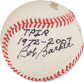 Autographs:Baseballs, Bob Barker Single Signed Baseball. ...