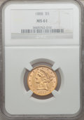 Liberty Half Eagles: , 1888 $5 MS61 NGC. NGC Census: (41/47). PCGS Population (40/72).Mintage: 18,296. Numismedia Wsl. Price for problem free NGC...