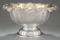 Silver Holloware, American:Punch Bowls, A TIFFANY & CO. SILVER AND SILVER GILT CHRYSANTHEMUMPATTERN PUNCH BOWL. Tiffany & Co., New York, New York, circ...