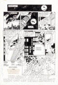 "Original Comic Art:Complete Story, George Perez and Dan Adkins T.H.U.N.D.E.R. Agents #4 Complete 10-Page Story ""The Night the Lights Went Out on Wall... (Total: 10 Original Art)"