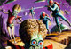 "Norman Saunders, Wally Wood, and Bob Powell Mars Attacks! Trading Card #48 ""Earthmen Land on Mars"" Painted Ill..."