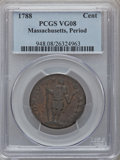 Colonials, 1788 CENT Massachusetts, Period VG8 PCGS. PCGS Population (5/394).NGC Census: (4/121). (#311)...