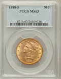 Liberty Eagles: , 1888-S $10 MS63 PCGS. PCGS Population (130/3). NGC Census: (77/6).Mintage: 648,700. Numismedia Wsl. Price for problem free...