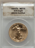 Modern Bullion Coins, 2011 $50 One-Ounce Gold Eagle MS70 ANACS. NGC Census: (0). PCGSPopulation (140)....