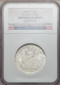 Seated Half Dollars, 1843-O 50C SS New York -- Shipwreck Effect -- NGC. Wooden displaybox and NY Mint COA included. Mintage: 2,268,000. (#6244...