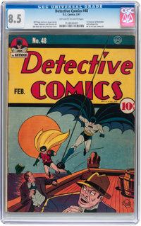 Detective Comics #48 (DC, 1941) CGC VF+ 8.5 Off-white to white pages