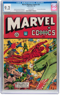 Marvel Mystery Comics #33 (Timely, 1942) CGC NM- 9.2 Off-white pages