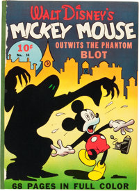 Four Color (Series One) #16 Mickey Mouse (Dell, 1941) Condition: FR