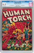 Golden Age (1938-1955):Superhero, The Human Torch #12 (Timely, 1943) CGC FN+ 6.5 Cream to off-white pages....